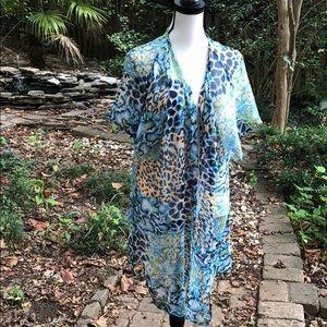 Leopard print kimono